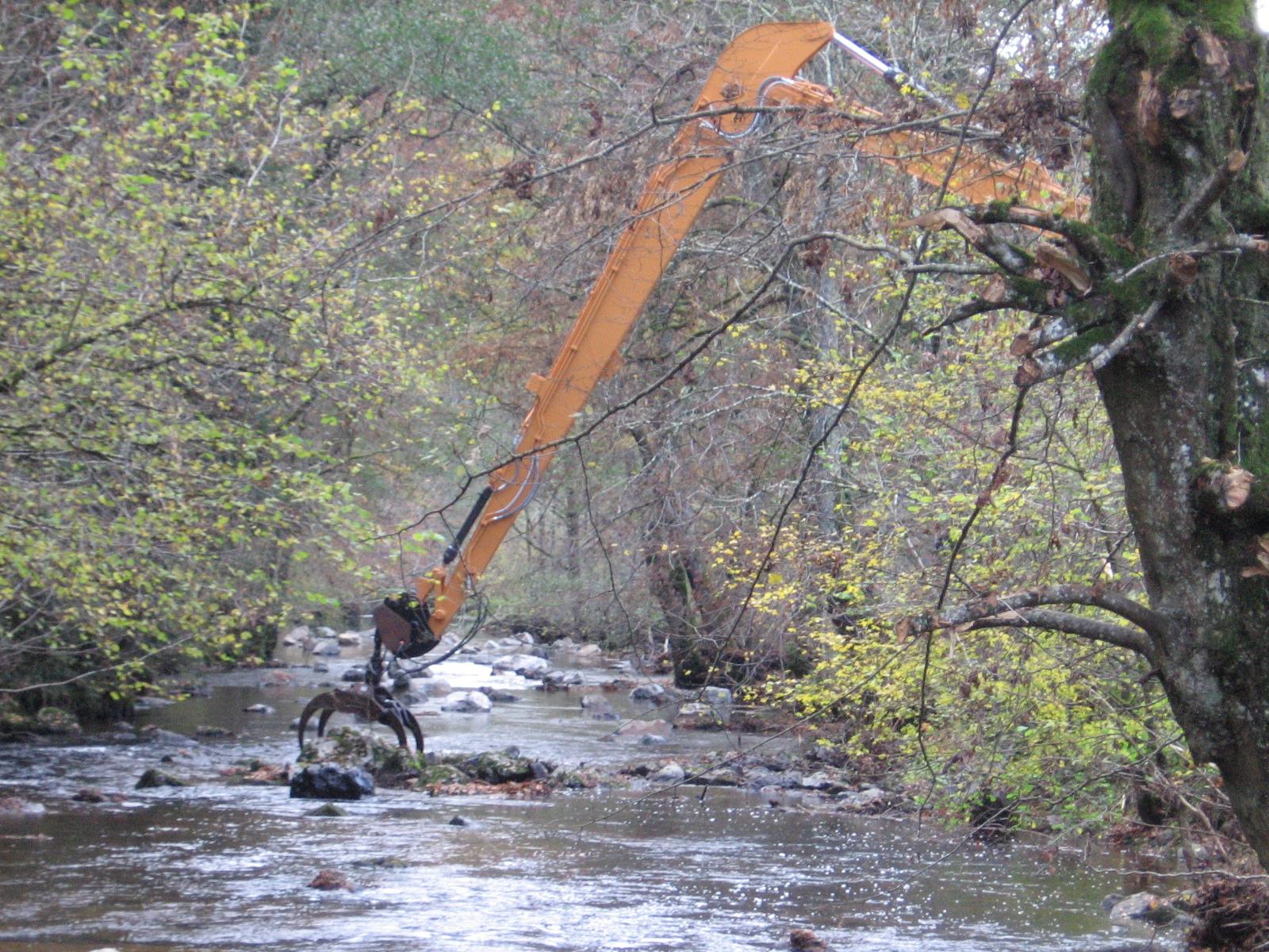 Travaux de restauration des habitats piscicoles