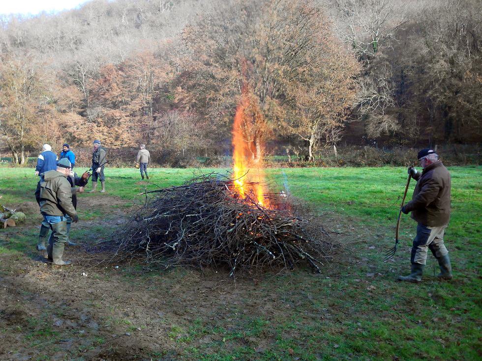 Travaux Novembre : nettoyage du Pré Marnat