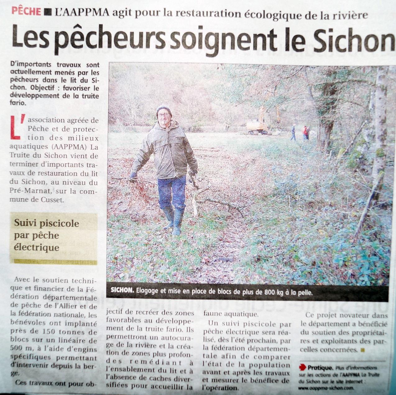 Info Presse : Travaux pré Marnat dans La Montagne