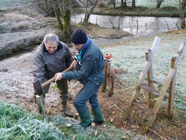 26/11/2017 : nouvelle séance de travaux sur le Sichon