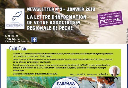 Lettre d'informations de l'ARPARA janvier 2018